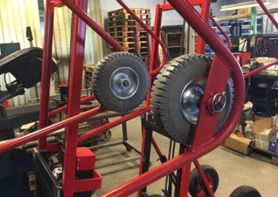 Spangkilde vindueløfter - detaljer med hjul