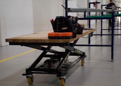 Flytbart Spangkilde arbejdsbord lav højde