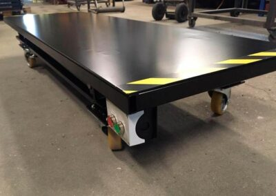 Flytbart Spangkilde arbejdsbord med synligt betjeningspanel