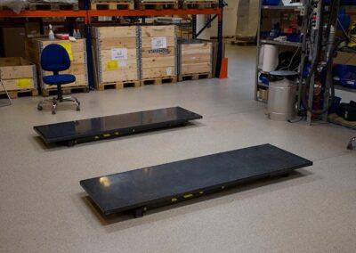 bordplader står på gulv